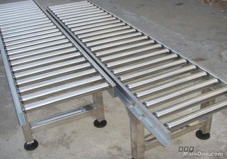 China Customized Size Lineshaft Roller Conveyor For Material Handling / Sorting supplier