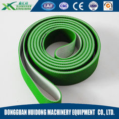China Green Rubber Conveyor Belt PVC Pattern Conveyor Belt Ribbed Custom Design supplier