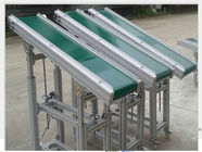 China Powered V Flat Belt Conveyor Carbon Steel Material 0.4kW - 22kW For Climbing company