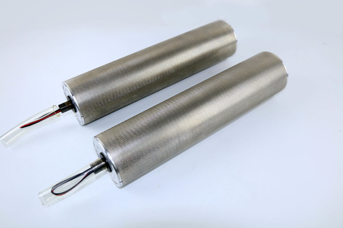 AC / DC Drum Motor Electric Conveyor Rollers With Silver / Grey Color supplier