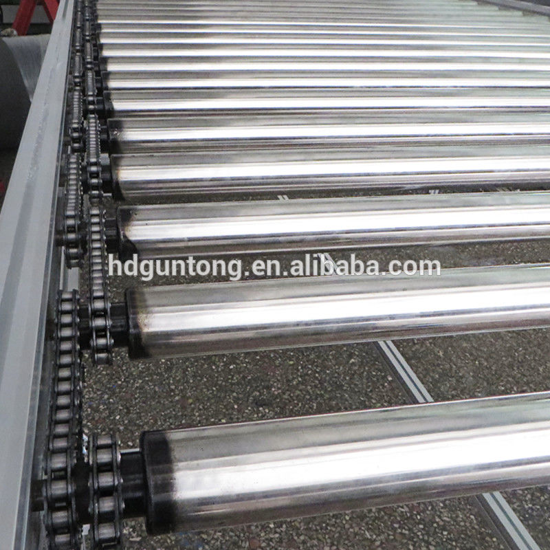Adjustable Chain Driven Roller Conveyor With Drum Motor Roller For Food Industry supplier