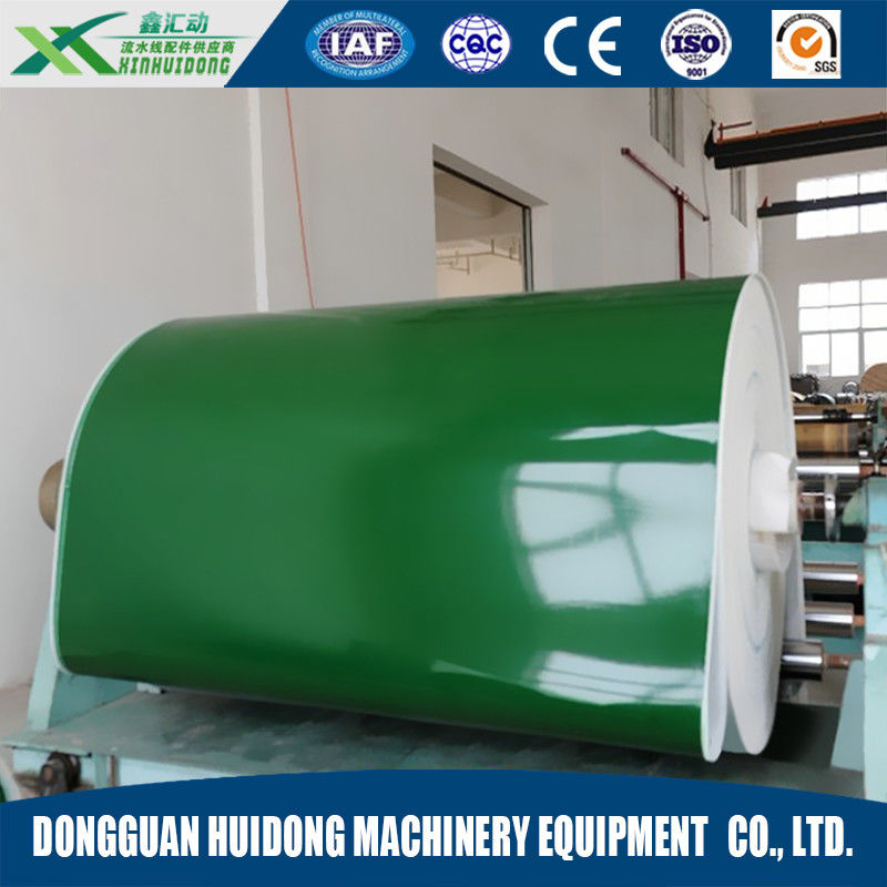 PVC / PU Green Portable Conveyor Belts Flat Surface Production Line supplier