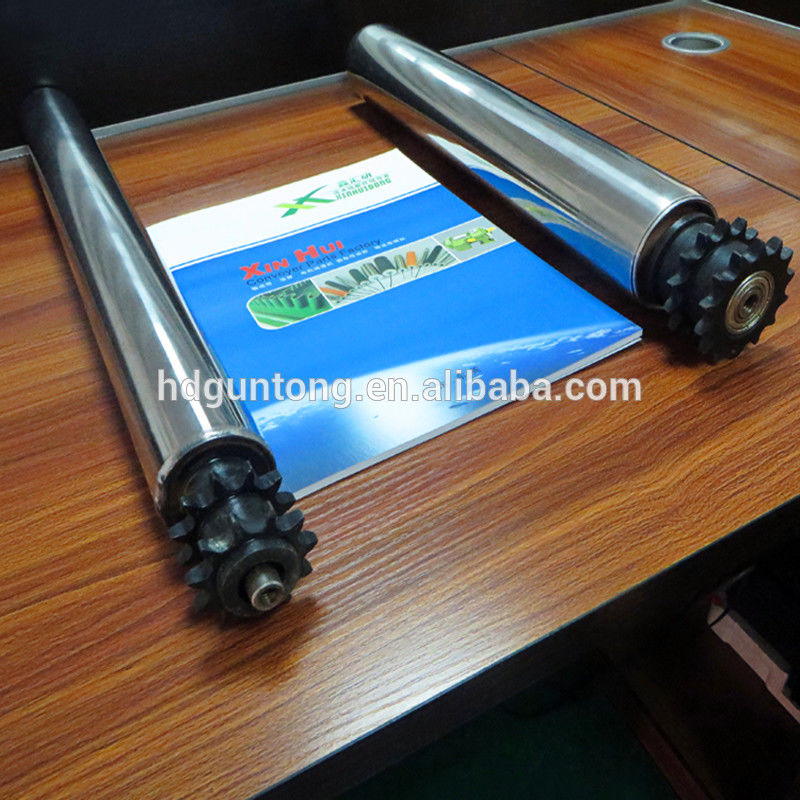 Material Handling Adjustable Roller Conveyor With Double Sprockets supplier