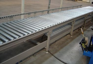 China Flexible Gravity Roller Bed Conveyor , Lineshaft Pallet Roller Conveyor Fire Resistant factory