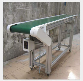 Small Assembly Line Roller Conveyors , Belt Driven Conveyor For Climbing