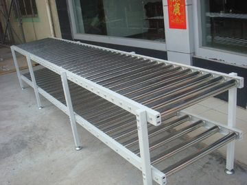 China Galvanized Carbon Steel Roller Transfer Conveyor , Material Handling Conveyor factory