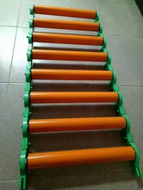 Industrial Adjustable Roller Conveyor Custom Size With High Toughness