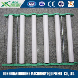 PVC Plastic Gravity Feed Roller Conveyor , Transportation Package Roller Conveyor