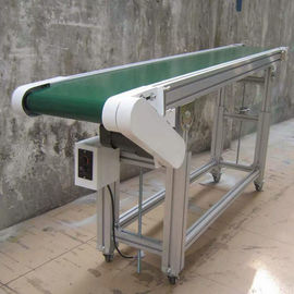 Custom Inclined Roller Conveyor , Rubber Belt Roller Bed Conveyor For Logistics Filed