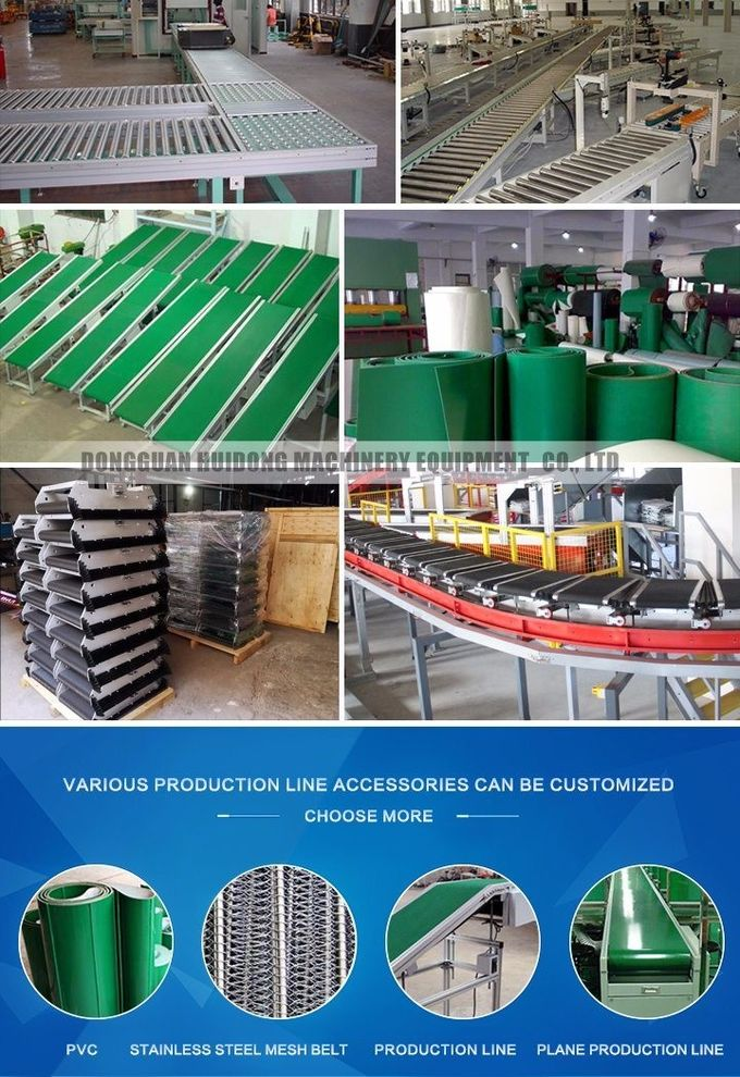 Flat Belt Shipping Roller Conveyor , Live Roller Conveyor For Climbing