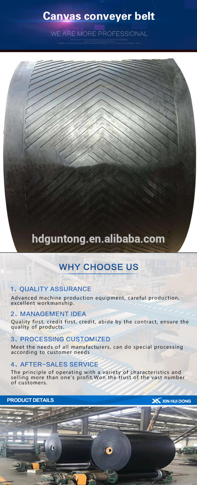 Industrial Fire Resistant Conveyor Belt , Black Color Reinforced Rubber Belting