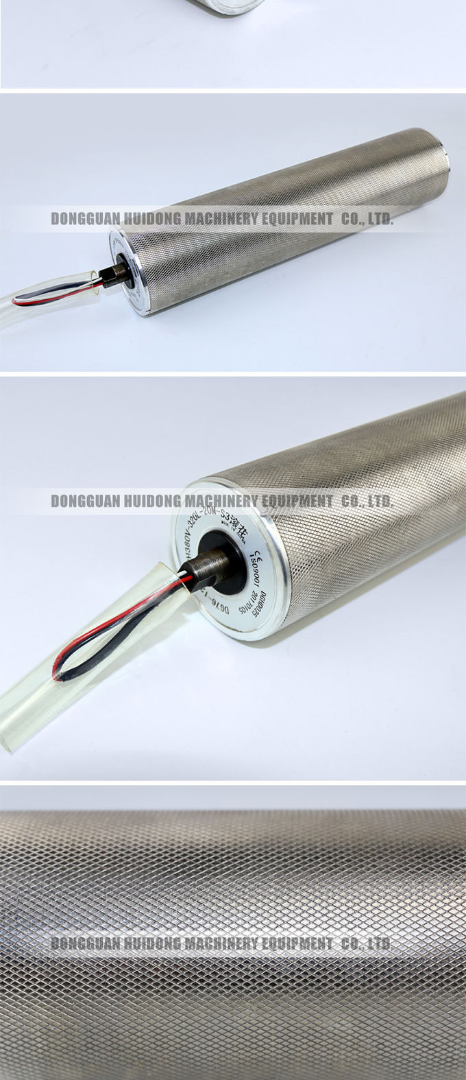 AC / DC Drum Motor Electric Conveyor Rollers With Silver / Grey Color
