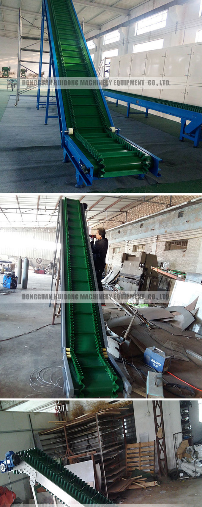 Sidewall Food Grade Rubber Conveyor Belt With 400 - 2600mm Belt Width