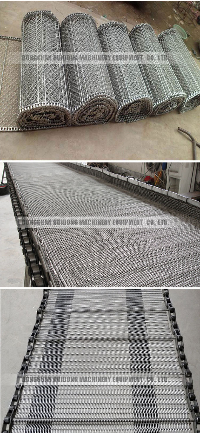 Metal Stainless Steel Conveyor , Wire Mesh Conveyor With Heavy Loading