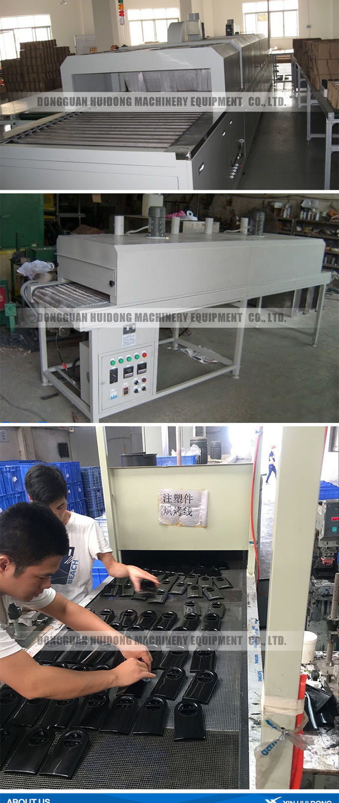 Stainless Steel Lineshaft Roller Conveyor For Industrial Drying Machine
