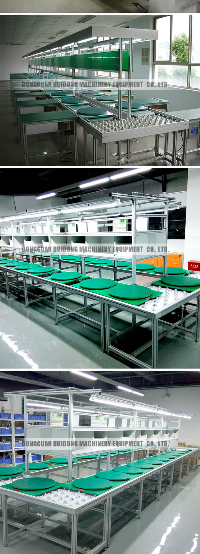 Belt Type Production Line Conveyor Systems Good Hardness For Industry